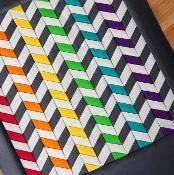 Mystic Rainbow Chevron Paper Pieced - via @Craftsy