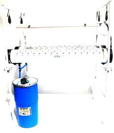 Complete Aeroponic System 150 plant capacity with 140 watts of LED grow lights — Custom Aeroponics