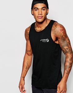 Image 2 ofObey Vest With Rose Print