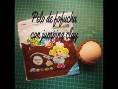 ▶ Como hacer el pelo de una fofucha con jumping clay - YouTube