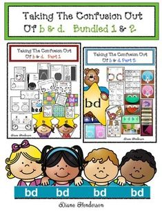 Be sure and check out the PREVIEWS and thumbnails, for bd Part 1 & bd Part 2 to see lots of the goodies included in this packet. I truly believe the more you immerse your students in a variety of engaging letter activities, the easier it is for them to learn, as well as differentiate.With that in mind, I designed this jumbo packet with a huge variety of all sorts of different, interesting and fun activities: worksheets, games, posters, tips, craftivities, graphs, assessments, stories, son...