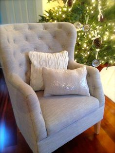 12x16 Sequin Pillow Cover in White by TheLaurenCollection on Etsy, $14.35