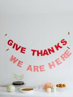 DIY Thanksgiving Garland
