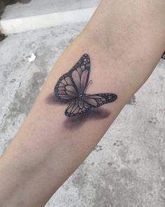 Butterfly tattoos have been a beautiful way to adorn your body for years now. They symbolize freedom, transformation, and beauty. Over the past few years, Butterfly Wrist Tattoo, Butterfly Tattoos For Women, Wrist Tattoos For Women, Butterfly Tattoo Designs, Arm Sleeve Tattoos, Spine Tattoos, Leg Tattoos, Small Tattoos, Cool Tattoos