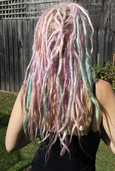 Pastel dreadlocks My Little Pony Hair :-) my autumn dreads 2014 Manic Panic pink cotton candy Directions lilac turquoise #fairy floss hair ^__^