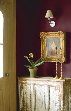 Kitchen- Historical Collection - Benjamin Moore's New London Burgundy HC-61