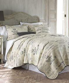Look what I found on #zulily! Gray Histoire Quilt Set by Levtex Home #zulilyfinds