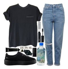 """basically"" by velvet-ears ❤ liked on Polyvore featuring Topshop, Puma, MAC Cosmetics, NARS Cosmetics, Bobbi Brown Cosmetics, Korres, Maison Margiela and Movado"