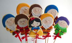 Snow white sugar cookies / Biscoitos decorados de Branca de Neve