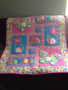 For a precious one Projects To Try, Quilts, Blanket, Comforters, Blankets, Patch Quilt, Kilts, Carpet, Log Cabin Quilts