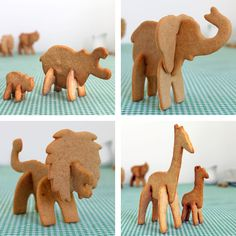 Whip up a fun batch of 3-D cookies with the safari cookie cutters by Suck UK. Made from sturdy plastic, this set of cookie cutters comes in the shape of animal body parts that slot together to make fun creatures that stand up on your plate.