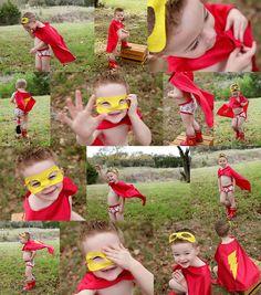 Toddler Superhero Photography