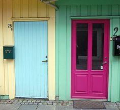 Colourful doors in Stavanger, Norway.