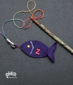 Time to go ABC Fishing! An Original #kids #craft by www.piikeastreet.com #piikeastreet
