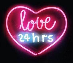 """"""" Love 24hrs """" Home Wall Lamp Art Work Love Poster MLB NEON Light Sign 10""""x8"""" http://itz-my.com"""
