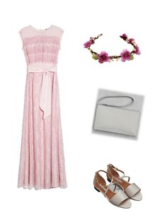 Looks for wedding guest mango dress & other stories sandals and clutch