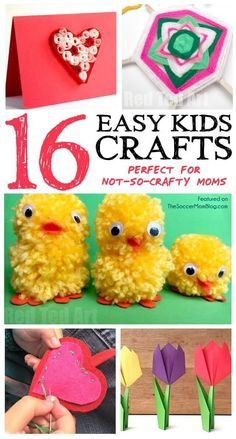 You'll love this list of easy crafts for kids that ANYONE can make with simple supplies! (Because we're not all
