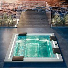 swiming pools swim spa pool design using brick with pool fence, Garten und Bauen