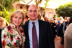 Sue Rosin & Dr. Fred Bloom at the One World Gala Reception on March 28, 2012