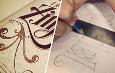 Montico Zinfendel - amazing lettering and i love seeing the before and after #lettering #branding #process