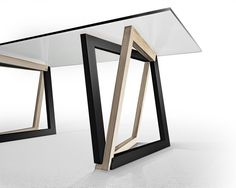 SAWHORSES table by Dror Benshetrit utilizing his revolutionary system of space truss geometry, QuaDror