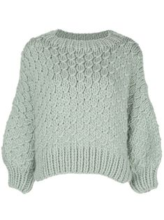 I Love Mr Mittens Cropped Cable-knit Jumper In Green I Love Mr Mittens, White Jumper, Cable Knit Jumper, Green Wool, World Of Fashion, Clothes For Women, Knitting, Polyvore, Closet