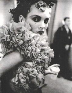 90srunway:    Kate Moss backstage at John Galliano F/W 1995