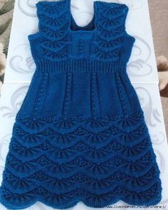 Baby Knit Dress Patterns – Knitting And We Crochet Baby Dress Pattern, Knit Baby Dress, Baby Dress Patterns, Knitted Baby Clothes, Crochet Baby Hats, Baby Knitting Patterns, Lace Knitting, Crochet Clothes, Crochet Beanie