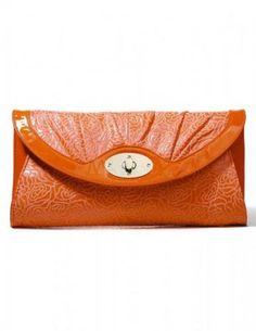 Beautiful Horizontal Shape Floral Print PU Leather Evening Bag For Women