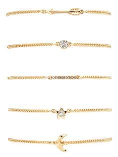 GET $50 NOW | Join Zaful: Get YOUR $50 NOW!http://m.zaful.com/rhinestone-moon-arrow-pentagram-bracelet-set-p_219102.html?seid=1790911zf219102