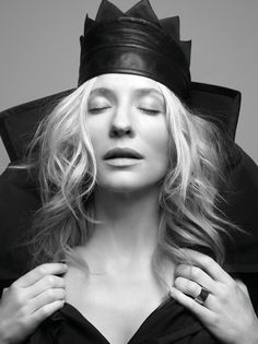 """Catherine Élise """"Cate"""" Blanchett (b 14 May 1969) by Ruven Afanadan: Australian actress, Numerous Awards & Accolades -Star on Hollywood Walk of Fame. International attention for role Elizabeth I of England in '98 film, for which she won British Academy of Film,  (BAFTA) & Golden Globe awards, """"Elf Lady Galadriel"""" in Peter Jackson's  Lord of Rings trilogy,  Katharine Hepburn in Scorsese's The Aviator brought Best Supporting Actress. Wikipedia"""