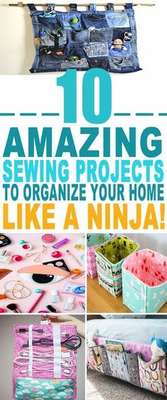 These sewing projects are just the BEST! Tried a few of these sewing projects to organize my home and they've already helped me a lot. Pinning for sure.