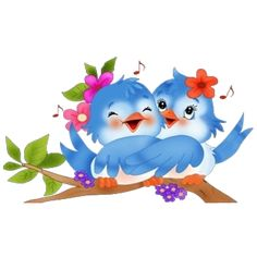 Love Birds - Cute Cartoon Animal Images