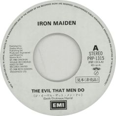 Iron Maiden,The Evil That Men Do - Autographed,Japan,Promo,Deleted,7