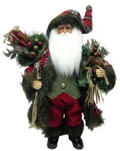 """16"""" Plaid Christmas Santa"""