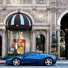 Dope ride goes shopping for fresh gear!  Ferrari 458