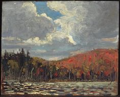 """Hillside, Smoke Lake,"" Tom Thomson, oil on plywood, National Gallery of Canada. Canadian Painters, Canadian Artists, Landscape Art, Landscape Paintings, Landscapes, Emily Carr Paintings, Group Of Seven Paintings, Tom Thomson Paintings, Jackson"