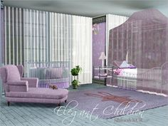 Last Part of the Elegant Serie Found in TSR Category 'Sims 3 Kids Bedroom Sets' 3 Kids Bedroom, Kids Room, My Sims, Sims Cc, Sims 4 Cc Makeup, Sims Community, Sims 4 Custom Content, Nursery Furniture, Elegant