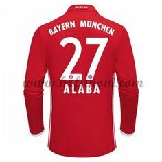 Bayern Munich Nogometni Dresovi 2016-17 Alaba 27 Domaći Dres Dugim Rukavima Komplet