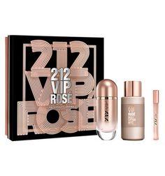 Estuche Carolina Herrera 212 VIP Rose Edp 80 ml + Loción Corporal + Vaporizador bolso 10 ml