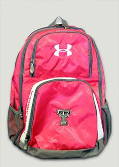48dabbd90a05 Under Armour Double T Pink Victory Backpack Texas Tech