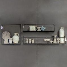 Wandrek metaal 100 x 16 cm