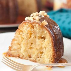 This Salted Caramel Kentucky Butter Cake is moist and pure comfort food!