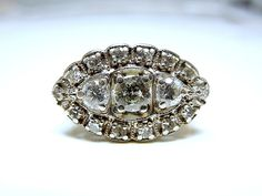 1940s Carat and a Quarter in 14K White Gold by AJMartinJewelry, $1850.00