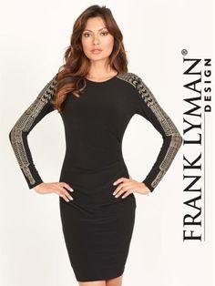 Frank Lyman Long Sleeve Sequin Dress