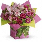 Teleflora's Pretty Pink Present Flowers