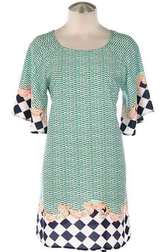 WONDERLAND SHIFT DRESS-Mint