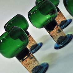 For Sale on 1stDibs - A perfect colorful pocal shaped goblet art glass designed by Kaj Franck for Nuutajärvi, Finland. These glasses were produced from 1968-1971 and have a Viborg, Pure Aesthetics, Wine Glass, Glass Art, Shape Art, Glass Design, Wine Rack, Light Colors, Vintage Designs