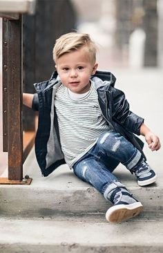 Shades of Blue - Children's Fashion - Kids Style Baby Outfits, Outfits Niños, Little Boy Outfits, Little Boy Fashion, Baby Boy Fashion, Toddler Outfits, Baby Dresses, Babies Fashion, Sunday Outfits