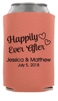 TWC-6832 - Happily Ever After - Fairy Tale Wedding Can Coolers #koozies